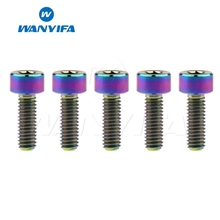 Wanyifa 5Pcs M4x10mm M4x12mm DIN912 Column Head Titanium Bolt Screw for Bicycle Brake