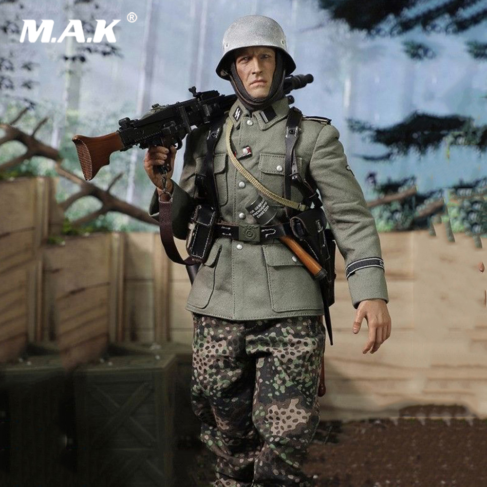D80130 1/6 Scale DID WWII German Army Panzer SS-PANZER-DIYISION DAS REICH MG42 Guner Figure Display Full Set Action Figure Model 1 6 scale wwii german admiral heydrich model action figure toys did 3r gm633 soldier toys collections m3