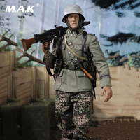 D80130 1/6 Scale DID WWII German Army Panzer SS PANZER DIYISION DAS REICH MG42 Guner Figure Display Full Set Action Figure Model