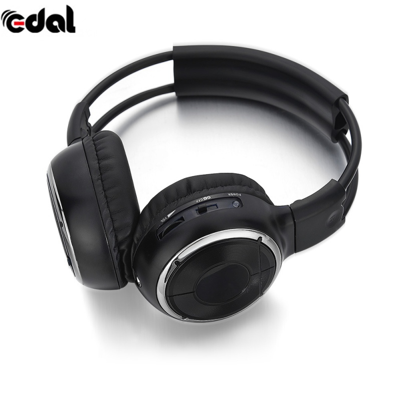 Foldable IR Infrared Headphone Wireless Stereo Car Headphones Headset Dual Channel Earphones