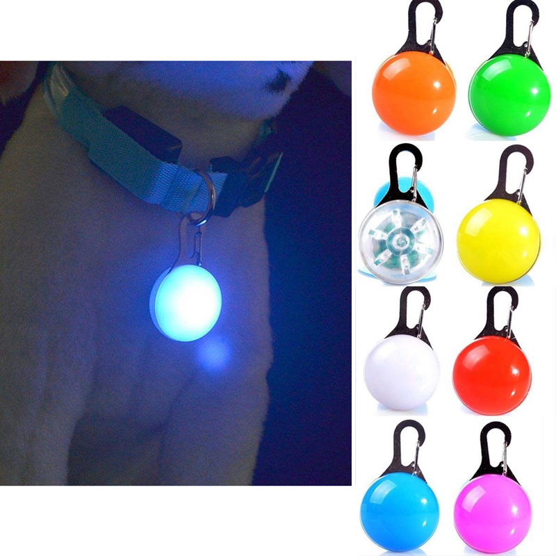 Sinal de LED Pet Luz Intermitente Cão Filhote de cachorro Coleira de Cachorro Pingente de Gato Colar de Segurança Noite Luz Brilhando Acessórios