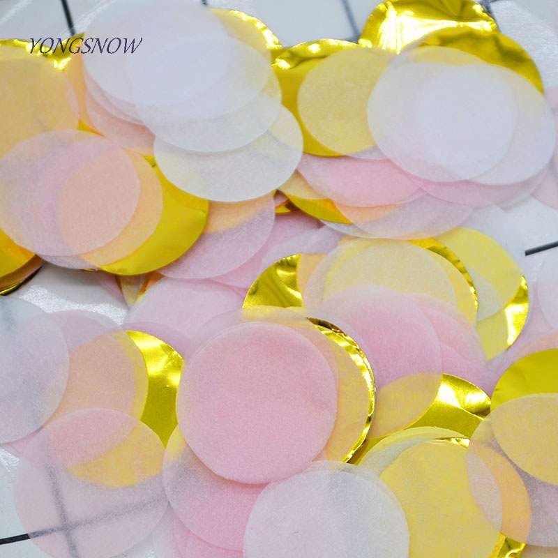 10g Round Multicolor Confetti Paper Confetti Birthday Decor Baby Shower Balloon Filler Table Decoration Christmas Party Supplies