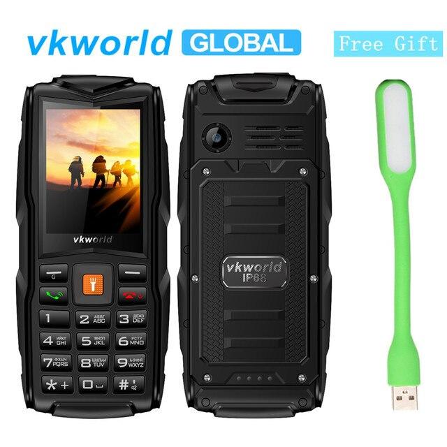 """מקורי VKworld חדש אבן V3 מקלדת טלפון IP68 עמיד למים Dustproof פלאש אור 2.4 """"3000 mAh סוללה GSM FM 3 ה-SIM כרטיס חריצים"""
