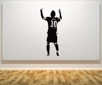Wall Decal Lionel Messi Barcelona Argentina Football Player Star Wall Art Sticker Children Bedroom Removable Wall