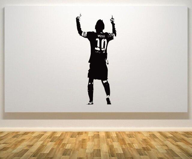c1a7f0e4f Naklejka ścienna Lionel Messi Barcelona argentyna piłka nożna piłkarz  gwiazda Wall Art naklejka dzieci sypialnia zdejmowane
