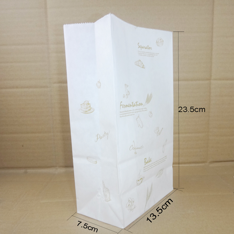 100 Pcs Putih Tahan Lemak Paper Bag Roti Makanan Kemasan Kantong