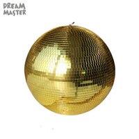 D50cm 19,7 дюймов большой зеркальный шар, промышленное золото стекло висит мяч для mall X'mas holiday art декор Стадия освещения шар