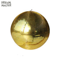 D50cm 19.7inch large mirror ball, industrial gold glass hanging ball for mall X'mas holiday art decor stage lighting globe ball