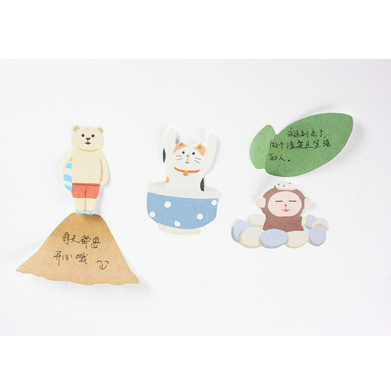 36 pcs/Lot Lovely animal sticky post Cat bear penguin memo pads sticker for diary book scrapbooking Office School supplies 6550