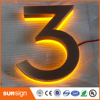 Wholesale Stainless Steel Backlit House Number Led