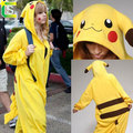 Anime pajamas Adult pokemon pikachu Onesie fantasias costume mascot pikachu halloween cospaly costumes for women and men