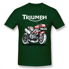 Triumph Motorcycle Speed Triple 1050 T-shirt For Men Plus Size Digital Print Couple Shirt(China)