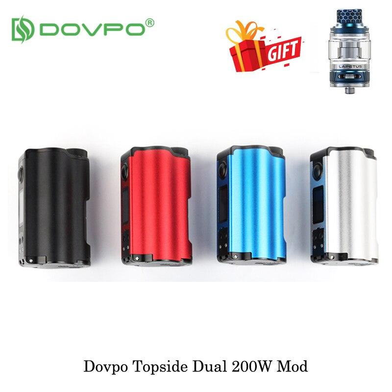 Elektroniczny papieros DOVPO na górze podwójny 200W górnym napełnienia TC Squonk 10ml zasilany przez dwa 18650 bateria do parownika parownik VS przeciągnij 2 Mod w Akcesoria do elektronicznych papierosów od Elektronika użytkowa na  Grupa 1