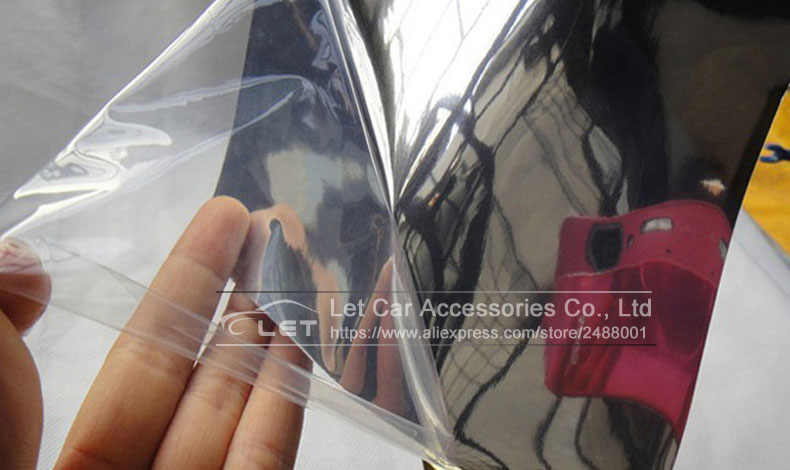 La plus nouvelle haute miroir extensible argent Chrome miroir flexible vinyle feuille rouleau Film voiture autocollant feuille de décalque