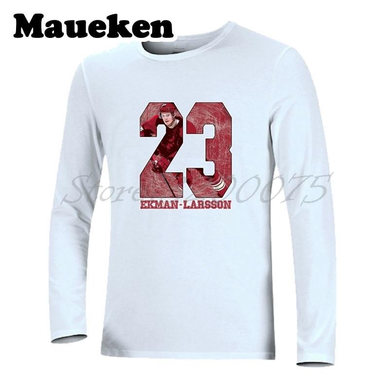 Men Long Sleeve Arizona 23 Oliver Ekman-Larsson T-Shirt Clothes COYOTES T Shirt Mens Autumn Winter W17112529