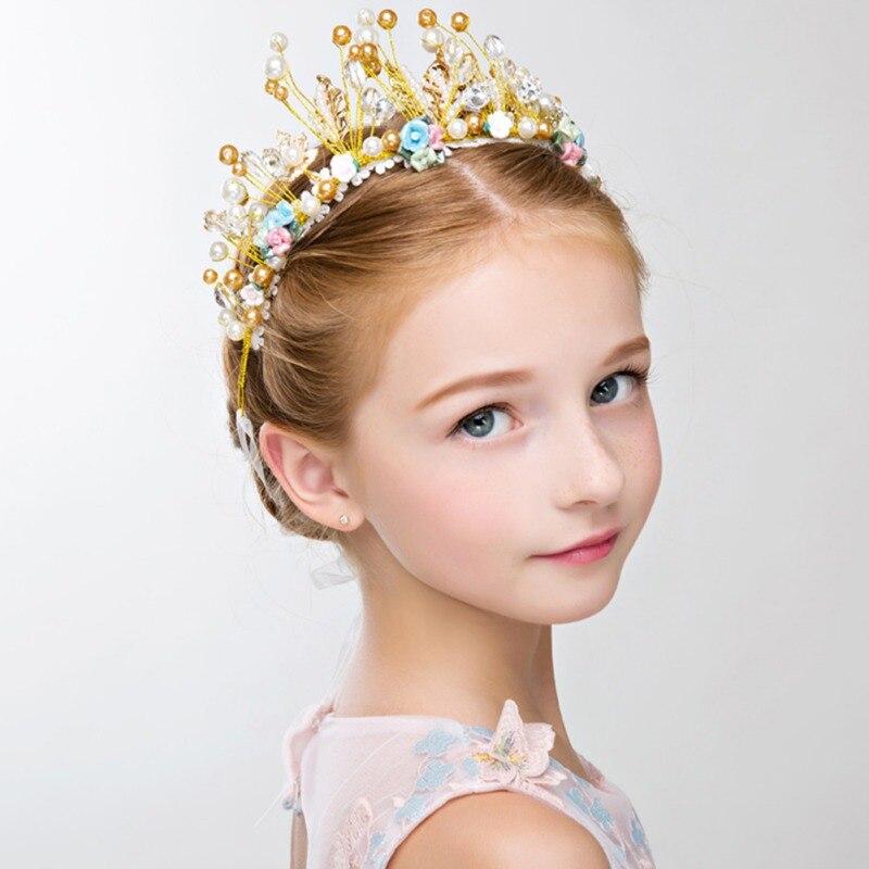 "Cute Newborn Baby Girls Headband Photo Props Head Accessories Gold,30cm//12/"""
