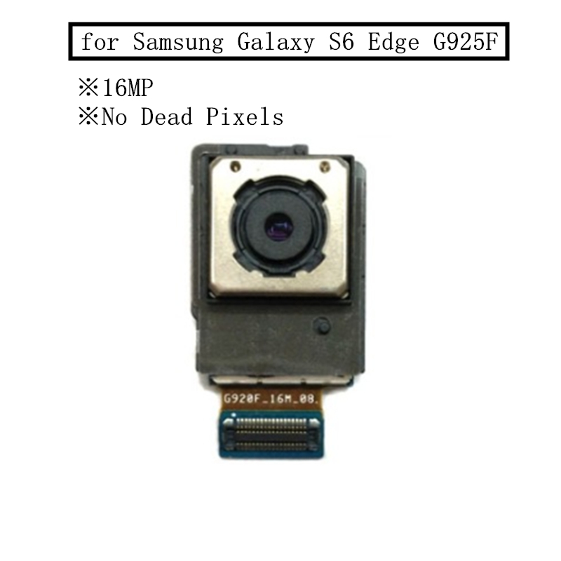 for Samsung Galaxy S6 Edge G925F Back Camera Big Rear Main Camera Module 16MPX Flex Cable Assembly Replacement Repair Parts Test