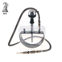 SY High Quality Acrylic Hookah Set Narghile Shisha with  Silicone Bowl Hose Charcoal Holder