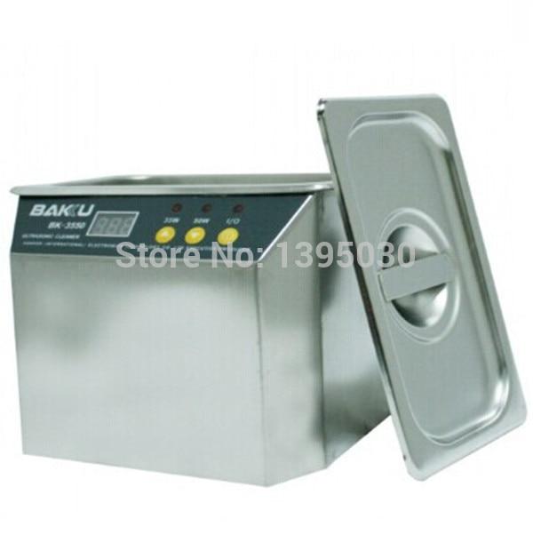 1pc Stainless Steel Ultrasonic Cleaner BK-3550 220V/110V For Communications jewelry/glasses Ultrasonic Cleaner Equipment