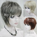 Unique Short Straight Full Synthetic Hair Wig many color for you choose free shipping