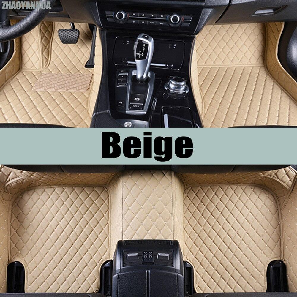 ZHAOYANHUA Car floor mats for Peugeot 206 207 2008 307 308sw 3008 408 4008 508 rcz car styling carpet floor liner коврики в салон peugeot 3008 2008 ун 4 шт текстиль nlt 38 19 22 110kh