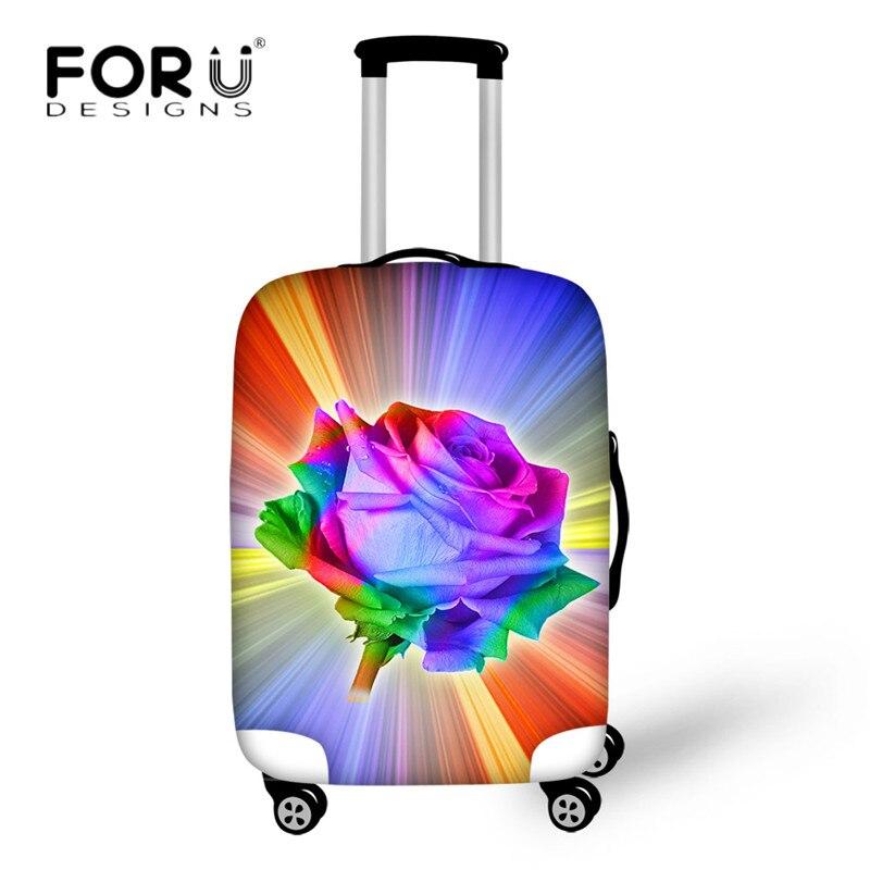 Forudesigns Красочный цветочный узор Чемодан защитный Чехлы для мангала относятся к 18 -30 чемодан эластичные с молнией Туристические товары
