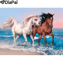 DIAPAI Diamond Painting 5D DIY 100% Full Square/Round Drill Animal horse Embroidery Cross Stitch 3D Decor A24603
