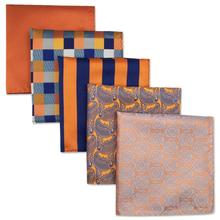 5 Pieces Mens Pocket Squares Colorful Lot Brand New Accessories Dress Handkerchief Pack Classic Gift