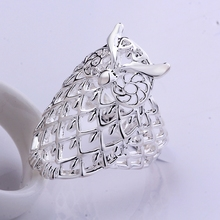 Free shipping New Collection Silver Fashion Jewelry 925 Sterling Silver Owl Animal Rings Women Accessories Silver 925 jewelry