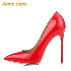 Anne aeng High Heels Women Pumps Ladies Red Wedding shoes e082d42d9146