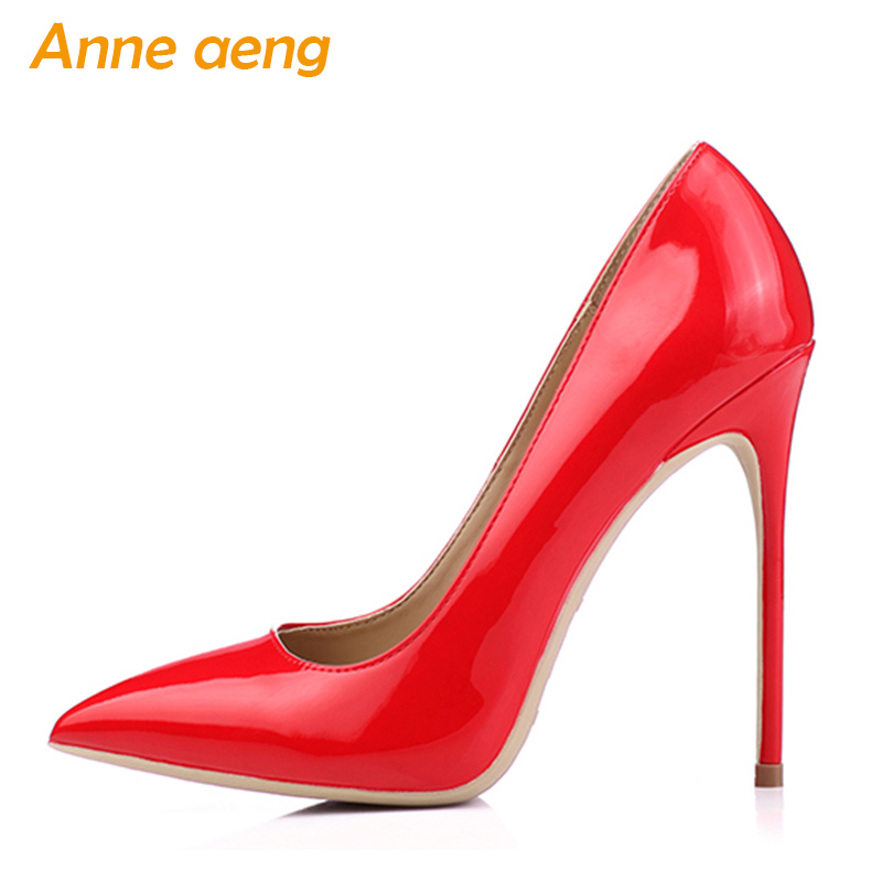 Women shoes 8cm 10cm 12cm High Heels Women Pumps Sexy Ladies Shoes Pointed Toe Classic Red Wedding shoes women Plus size 34-46 jawakye super high heel pumps red white shoes women pointed toe high quality leather wedding shoes bride 12cm ladies stilettos