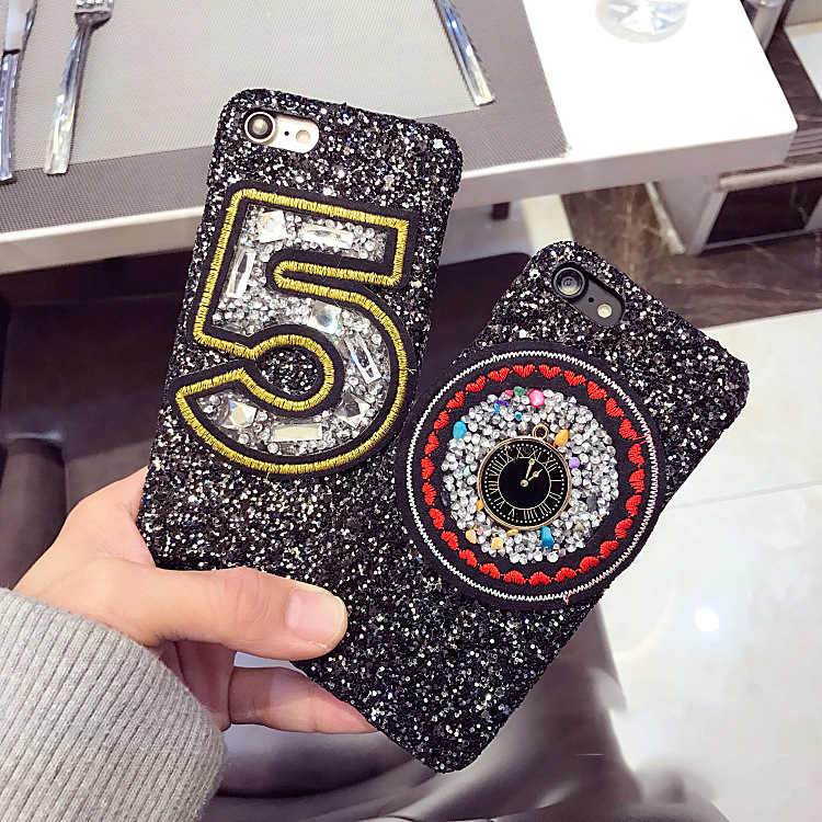 Luxury flash embroidery digital protective cover hard shell wrestling female mobile phone shell case for iPhone6s 6 / plus