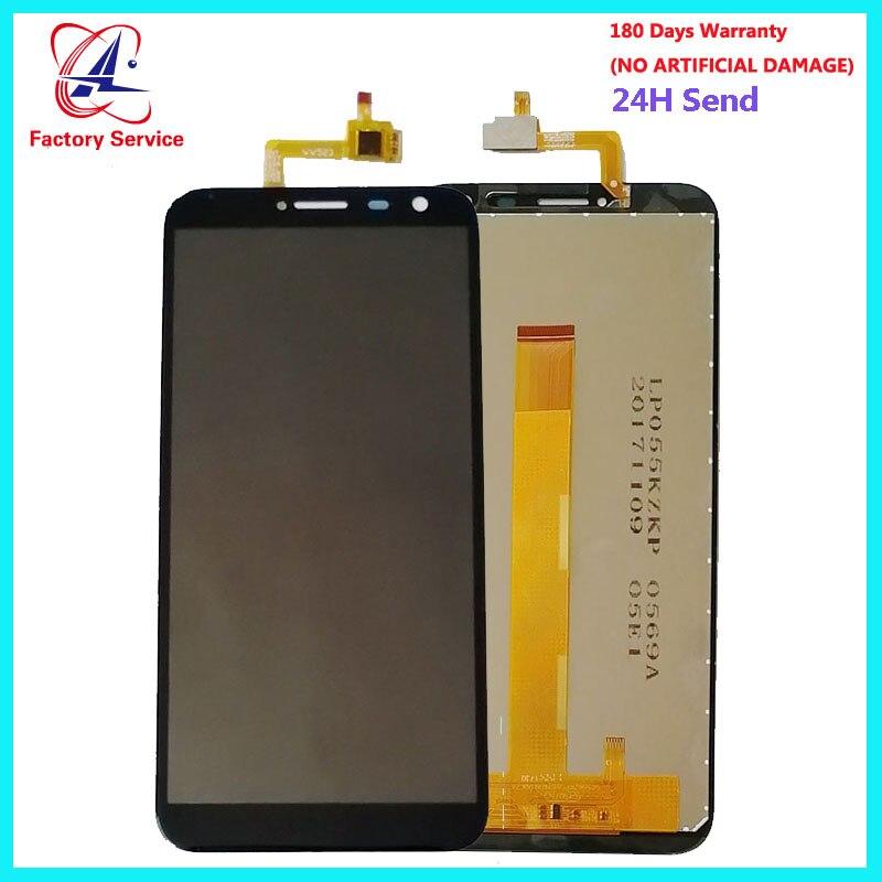 Para 100% Original Oukitel C8 Display LCD + Touch Screen Painel Substituição Peças de Montagem Digital de 5.5 polegada + Adesivo LCD vidro