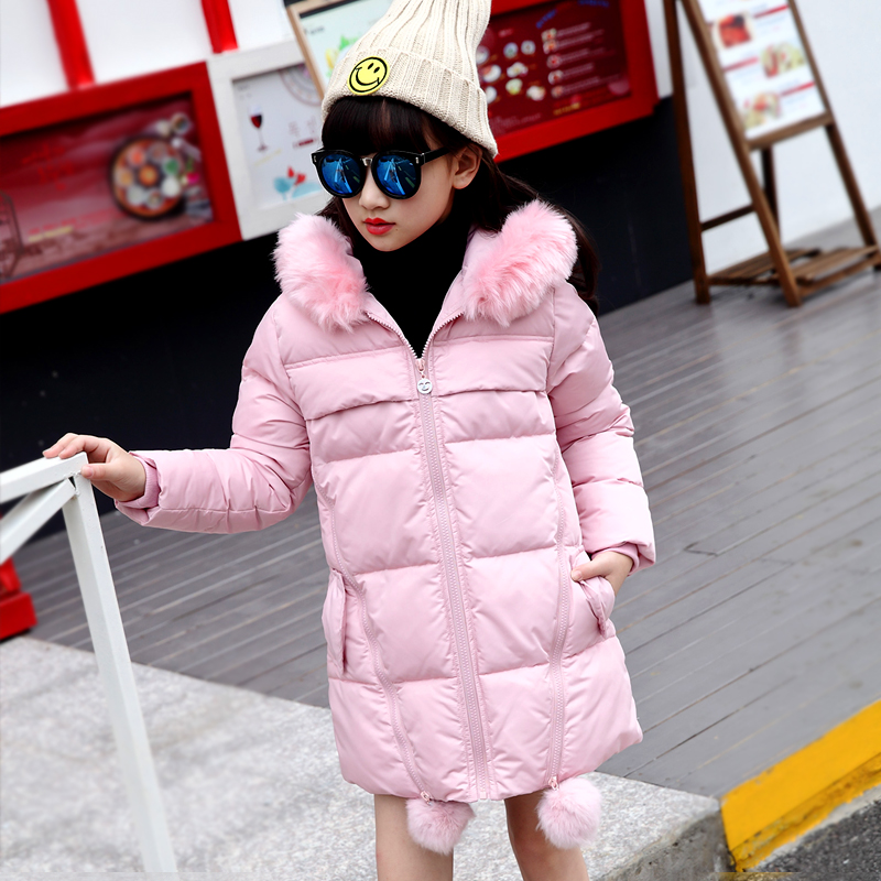 2017 girls jacket winter jackets thickening down coat children girl kids clothes coats parka korean 4~14 year fashion birthday girls down coats girl winter collar hooded outerwear coat children down jackets childrens thickening jacket cold winter 3 13y