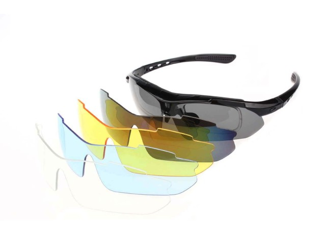 Professional Polarized Cycling Mountaineering Goggles Sunglasses UV 400 With 5 Lenses TR90