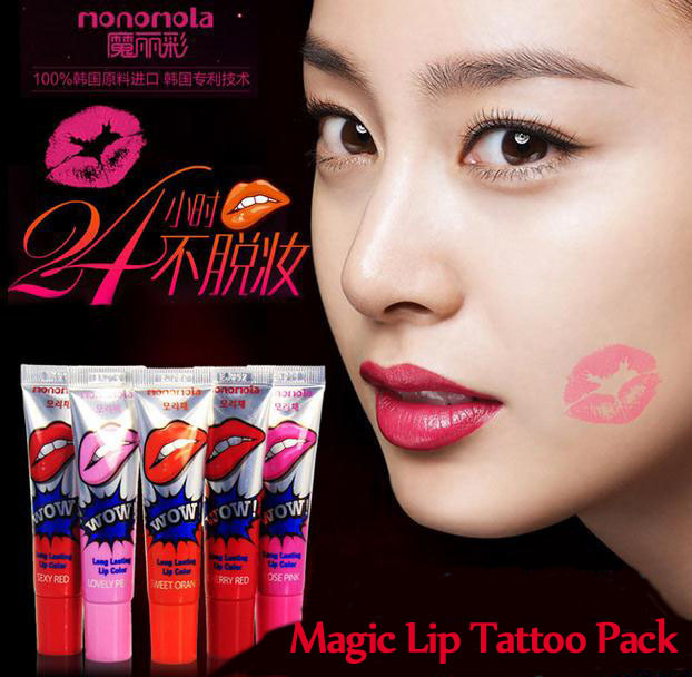 Lipstick Makeup Korea Skinaz Peel off Lasts For 24h Magic Lip Tattoo ...