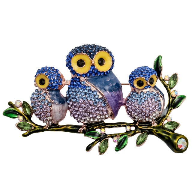 YACQ Owl Enamel Brooch Pin Women Fashion Jewelry Birthday Gifts For Girlfriend Mom Daughter Her Gold Color Dropshipping WB30
