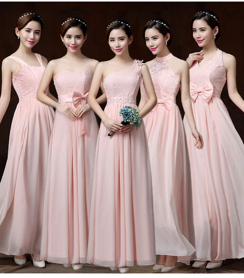 Sweet Memory Halter Pink Chiffon Bridesmaid Dresses Light Purple Bridesmaid  Dress with Bow SW1940 82fbc22b553a