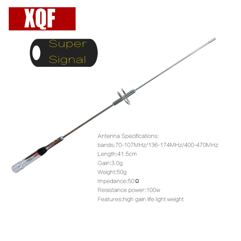 Урожая AZ-504 Нержавеющая сталь UHF/VHF Dual Band 144/430 мГц
