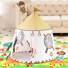 Yard Kids Tents Cartoon Portable Cute Lion Present Hang Flags Baby Children Play Playhouse Large Room 116*123CM Tent