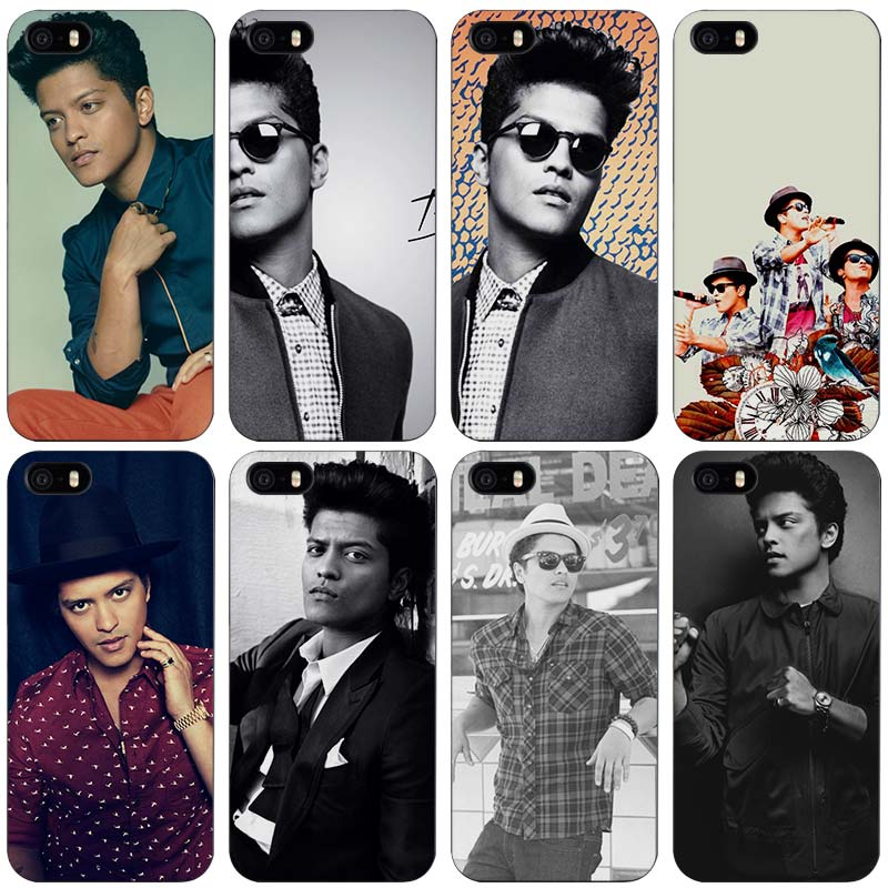 Bruno Mars черный Пластик чехол В виде ракушки для Apple IPhone 4 4S 5 5S SE 5C 6 6S 7 Plus ...