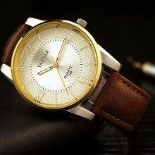 Top marca yazole romano correa de cuero reloj de cuarzo reloj de los hombres reloj de oro de lujo de negocios relojes impermeables horas reloj hombre