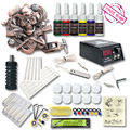 Beginner Tattoo Kit  1 Relief  Tattoo Machine Gun  6 color Inks Tattoo Set Tattoo Power Supply