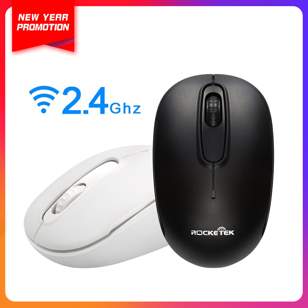 Rocketek Usb Wi-fi Mouse 1600 Dpi three Buttons Ergonomic For Imac Professional Macbook Laptop computer Laptop Optical Mice