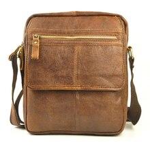 NEWEEKEND Retro Casual Genuine Leather Cowhide Scrub Small Shoulder Crossbody iPad Bag for Man