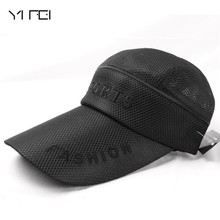 купить 2018 Women Men Mesh Hat Quick-Dry Collapsible Sun Hat For Unisex Sunscreen Baseball Cap Outdoor breathable cap Fashion Brand Hat по цене 366.78 рублей