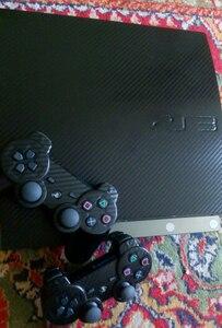 Image 5 - 100% новая наклейка из углеродного волокна для PS3 Slim и 2 контроллера наклейка для PS3