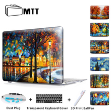 MTT Oil Painting Case For 2018 New Apple Mac Macbook Pro 15 Cover Air 11 13 15 inch With Touch bar A1706 A1707 A1708 Laptop Case