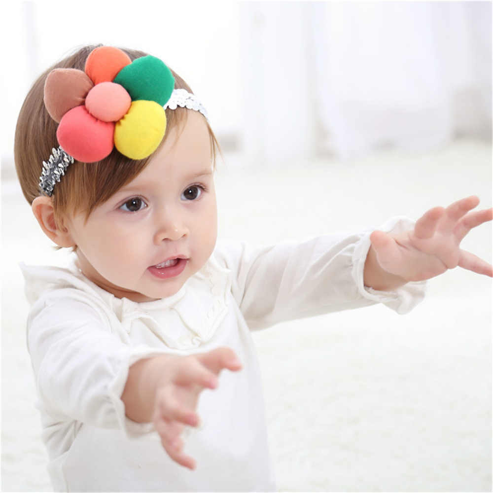 ... Fashion Newborn Toddler Headband Children s Cute Headdress Baby Band  Lace Pentagram Flowers Girl Elastic bands Hair ... f5260fa0f384