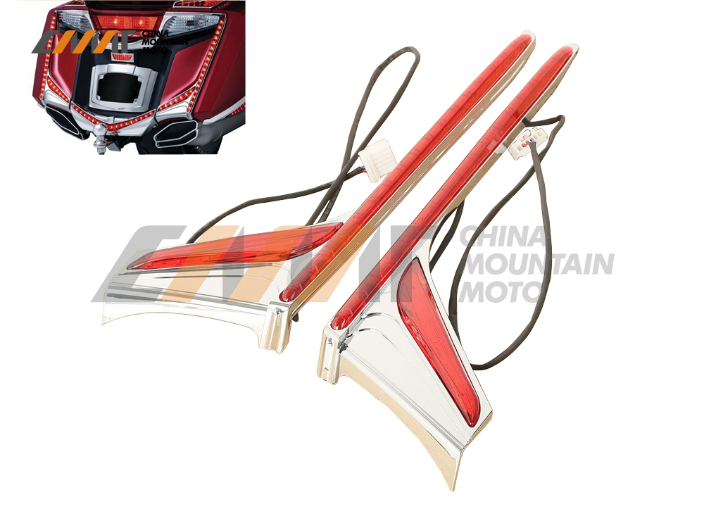 Red Rear LED Light Vertical Strip Brake case for Honda GL1800 F6B 2012-2016 2013 2014 2015 накладной светильник technolux tl02 ol ecp ip54 12885